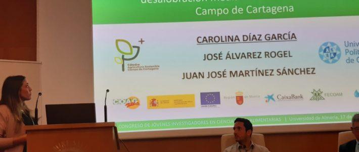 Carolina Díaz presentó el proyecto AGUAINNOVA en el Congreso de Jóvenes Investigadores en Ciencias Agroalimentarias