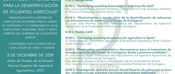 JORNADA INTERNACIONAL «USO DE BIOREACTORES CON MADERA Y HUMEDALES PARA LA DESNITRIFICACIÓN DE EFLUENTES AGRÍCOLAS»